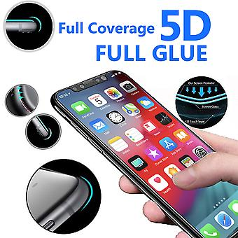For Apple iPhone XR - 5D Curve Edge Full Coverage 9H Hardness Tempered Glass (1 Pack) by i-Tronixs