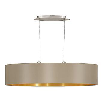 Eglo - Maserlo nichel 2 ovale lampadario soffitto luce satinato EG31618 tortora