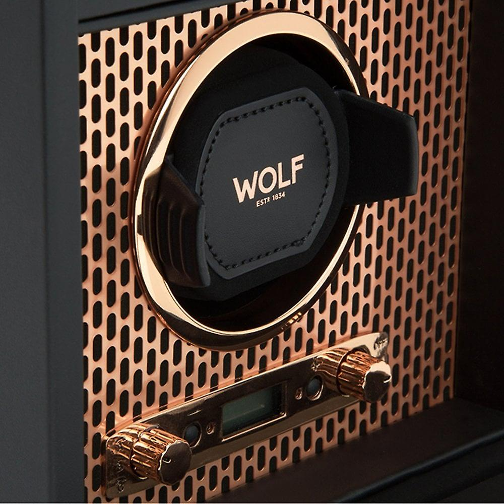 Wolf Designs Axis Copper Single Winder With Storage 2.7