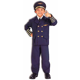 Airline Pilot Captain Flight Aviator Navy Uniform Book Week Boys Costume