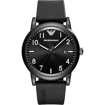 Emporio Armani Ar11071 Black Silicone Strap Men's Watch