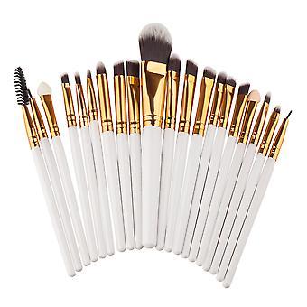 Øjen børste 20 stk hvid professionel make-up/Makeup børster til øjne