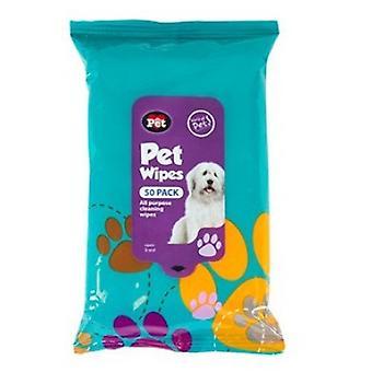 Petkin Pet lingettes - paquet de 50