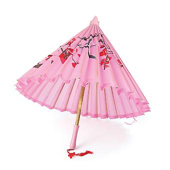 Bristol Novelty Silk Parasol With Wooden Handle