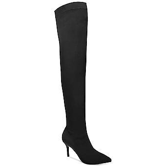 Conceptos internacionales INC mujeres Zaliaa señaló del dedo del pie sobre la rodilla Botas de moda