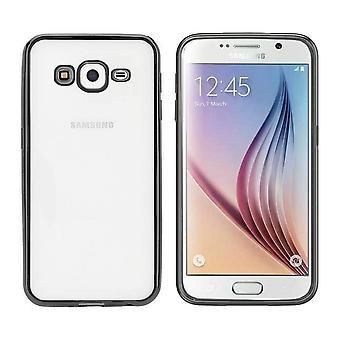 Backcover Clear Bumperlook voor Samsung J3 2016 Zwart