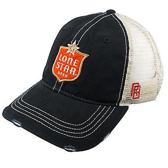 Lone Star øl retro mærke sort vintage mesh hat