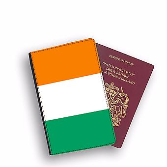 COTE DIVOIRE Flag Passport Holder Style Case Cover Protective Wallet Flags design