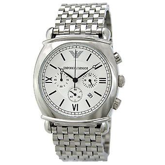 Armani Ar0315-Mens aço inoxidável Chronograph Watch designer