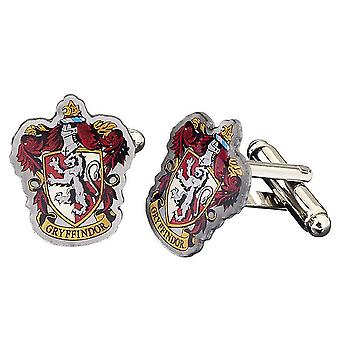 Harry Potter Silver Plated Gryffindor Crest Cufflinks