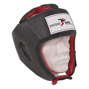 Precision Boxing MMA Sparring Head Guard W/O Cheek or Chin Protection Black