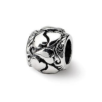 925 Sterling Silver finition Réflexions SimStars Love Hearts Bead Charm Pendant Necklace Bijoux Cadeaux pour les femmes
