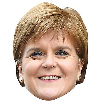 Nicola Sturgeon Scottish Politician Single 2D Card Party Fancy Dress Mask