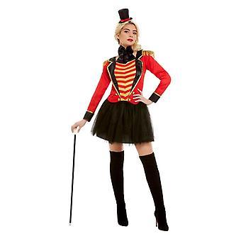 Mujeres adultos circo Ringmaster traje de vestir elegante