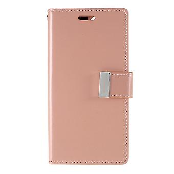 Mercury GOOSPERY Rich Diary for iPhone 11 Pro-Rose Gold