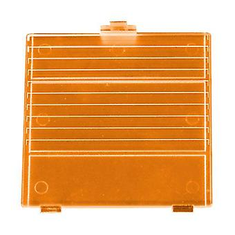 Replacement battery cover door for nintendo game boy dmg-01 - transparent orange