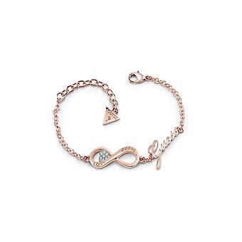 Guess Jewellery Guess Rose Gold Plated Infinity Heart Bracelet UBB85066-L
