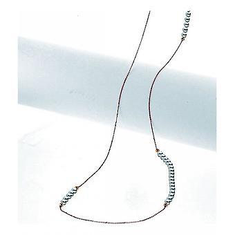 Luna-parels-halsketting-halsketting-Rose Gold 750 Zoetwaterparel 4-4.5 mm