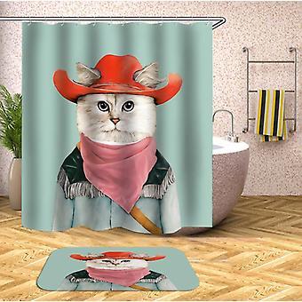Cowboy Cat Shower Curtain
