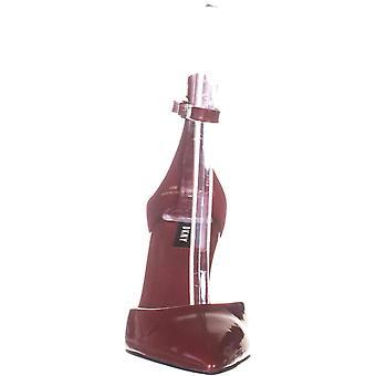 DKNY Womens patente de couro tornozelo cinta bombas vermelho 8 médio (B, M)