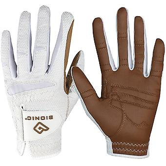 Bionic Women's Left Hand Relax Grip 2.0 Golf Glove - Caramel