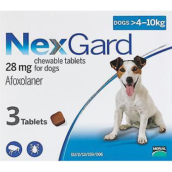 Nexgard für Hunde 4-10 kg (10-24 lbs) 3 Chewables