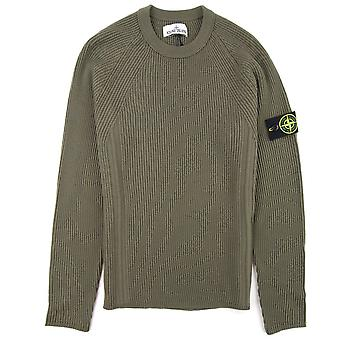 Stone Island Ribbon Sweatshirt Khaki V0058