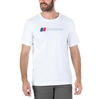 Berghaus Big Corporate Logo Mens Short Sleeve Outdoor T-Shirt Tee White