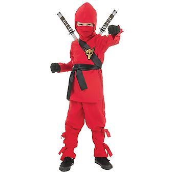Ninja Red Fox Assassin Stealth Japanese Asian Warrior Book Week Boys Costume