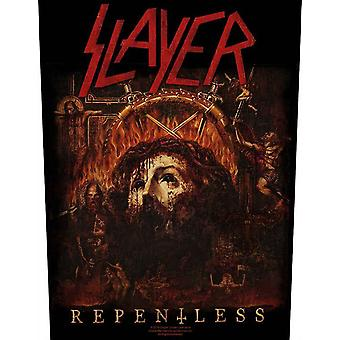 Slayer Back patch Repentless Cover Band Logo nuova cucitura ufficiale su 36cm x 29cm