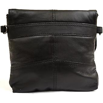 Mesdames / Womens Super souple en cuir épaule / Cross Body Bag / Sac à main avec sangle amovible (noir)