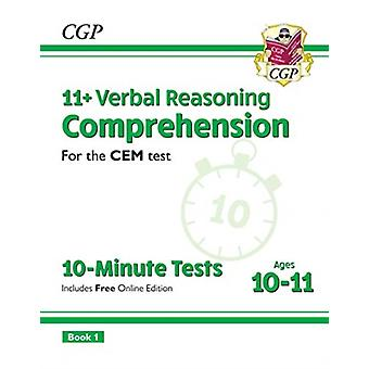 New 11 CEM 10Minute Tests Comprehension  Ages 1011 Book