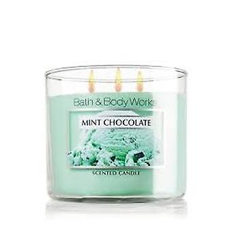 Bad & Body Works Mint Chocolate tre Wick duftende stearinlys 14,5 oz/411 g