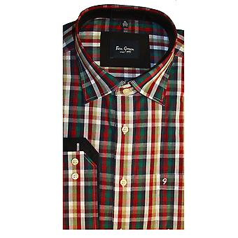 Бен Грин Мужская хлопок проверил дизайн длинными рукавами рубашки
