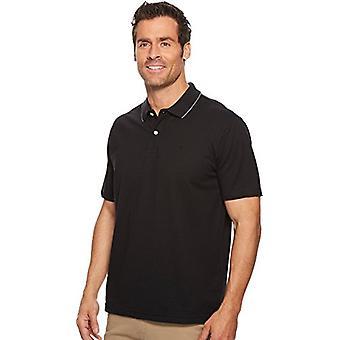 Dockers Men's Short Sleeve Performance Polo, Black,, Black, Size XX-Large