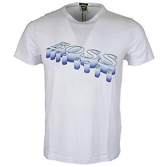 هوجو بوس 50383418 كوم 2 طباعة القطن قميصا أبيض