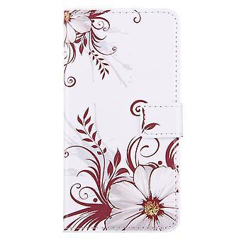 Für iPhone 8 PLUS, 7 PLUS Brieftasche Fall, Blume Knospen langlebige Abschirmung Lederabdeckung