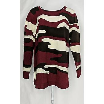 Attitudes by Renee Women's Plus Sweater Long Sleeve Pullover Brown A298542