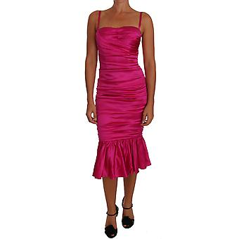 Pink Corset Mermaid Bustier Ruched dress