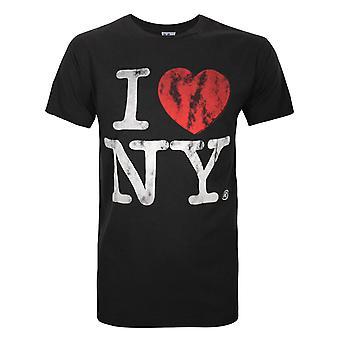 Junk Food I Love My New York Men's T-Shirt
