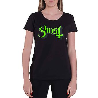 Ghost Green Keyline Logo Official Womens Skinny Fit T Shirt