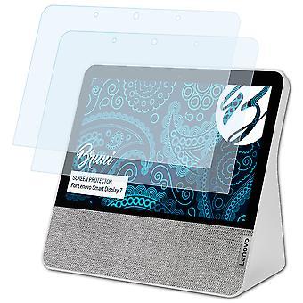 Bruni 2x näytönsuoja yhteensopiva Lenovo Smart Display 7 suojaava kalvo