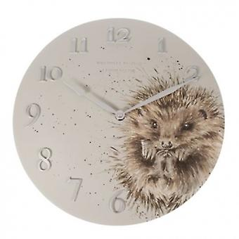 Wrendale Designs Wall Clock Hedgehog Design