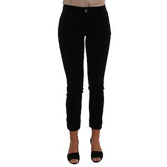 Dolce & Gabbana Schwarz Corduroy Baumwolle Stretch Jeans