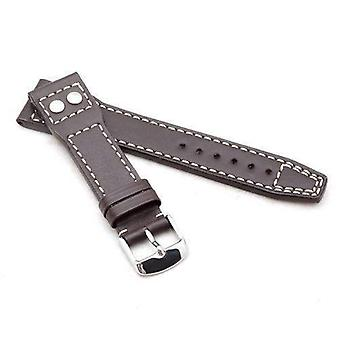 Calf leather watch strap dark brown made by w&cp to fit iwc marino 20mm and 22mm