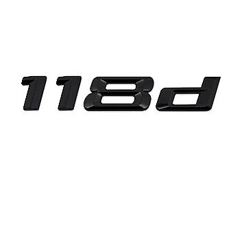 Gloss Black BMW 118D Car Model Rear Boot Number Letter Sticker Decal Badge Emblem For 1 Series E81 E82 E87 E88 F20 F21 F52 F40