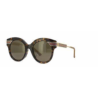 Gucci Asian Fit GG0282SA 002 Havana-Gold/Brown Sunglasses