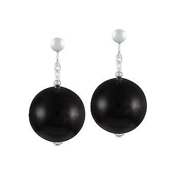 Eternal Collection Vanity Black Mountain Jade Drop Clip On Earrings