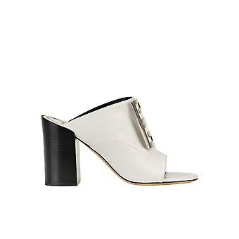 Givenchy Ezgl074056 Women's White Leather Slippers