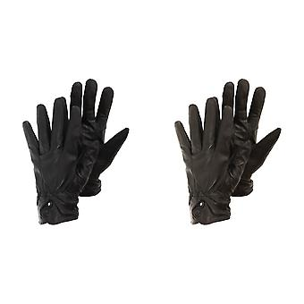 Ladies/Womens Plain Genuine Leather Gloves